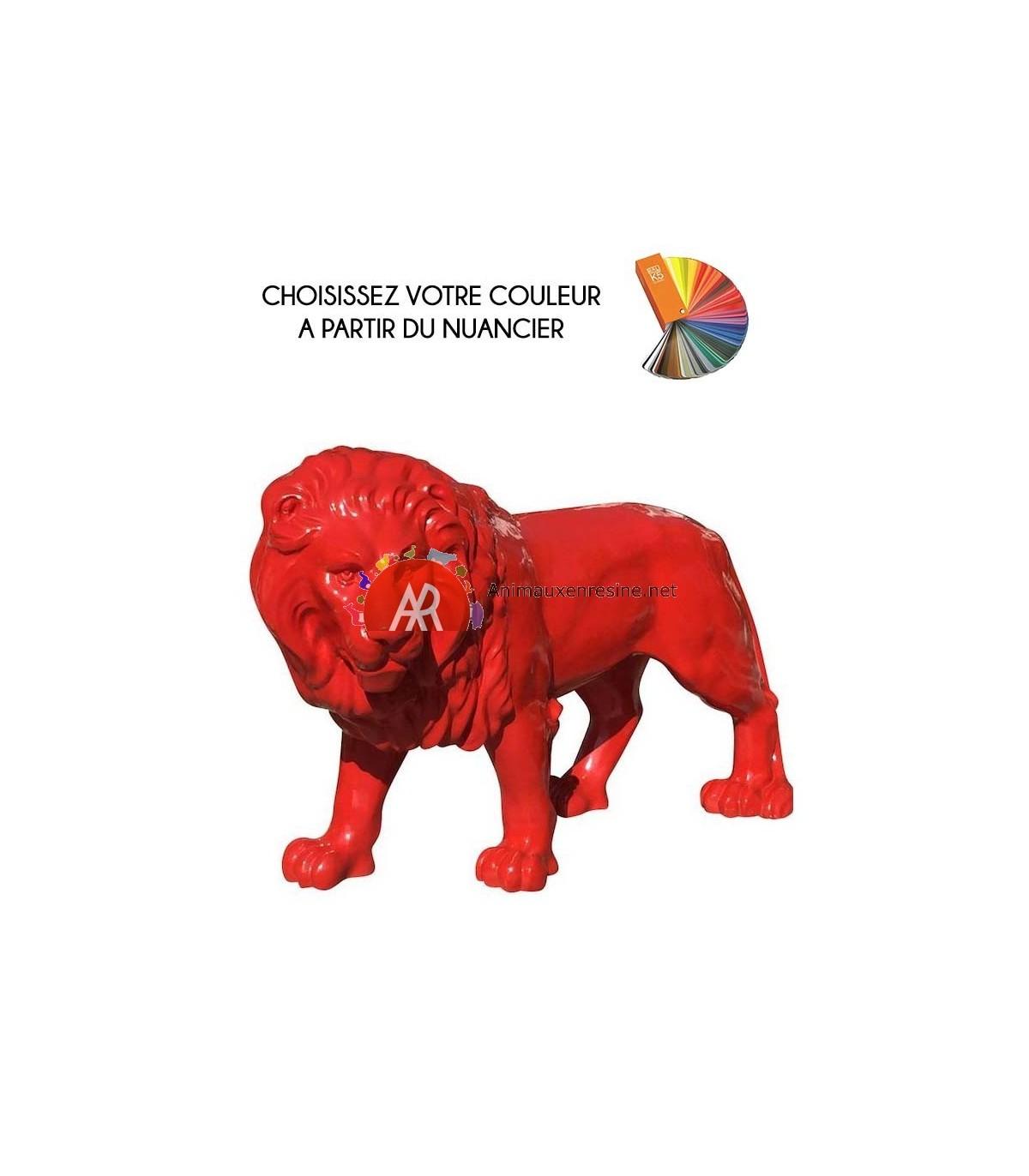 Sculpture De Lion Grand Modèle En Résine Monochrome | Animauxenresine concernant Nain De Jardin Fuck
