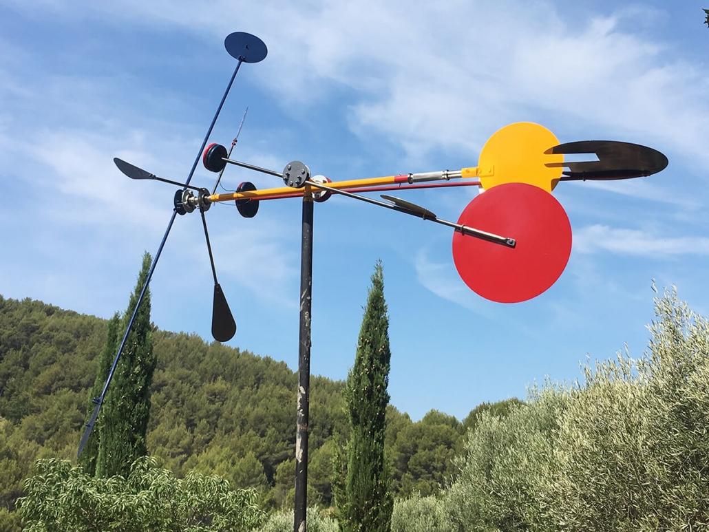 Sculptures Cinétiques Girouette À Vent De Jardin Dragonfly serapportantà Girouette De Jardin