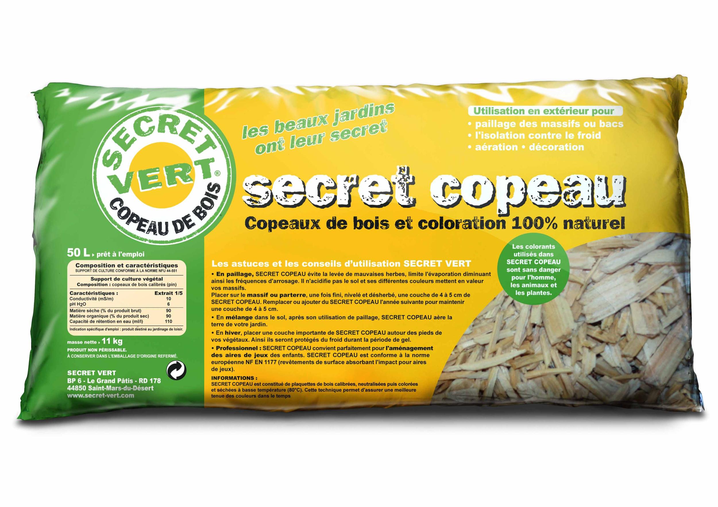 Secret Copeau Naturel 15/30 Mm - 50 L concernant Copeaux De Bois Jardin