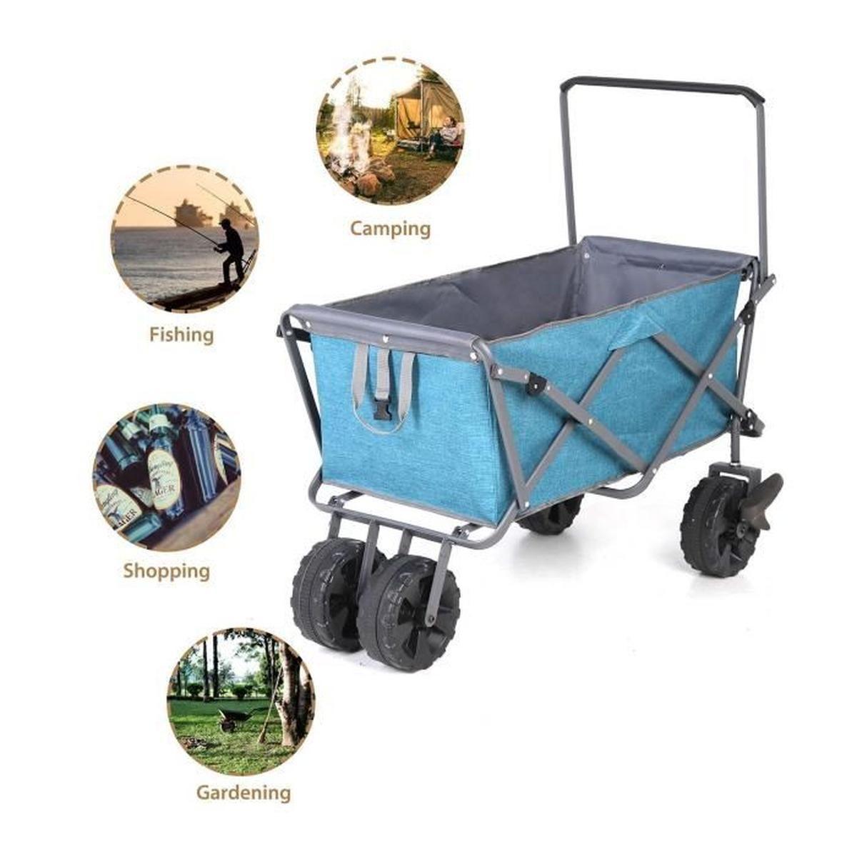 Sekey Chariot De Jardin Pliable Avec Freins Chariot ... tout Chariot De Jardin Multi Usage