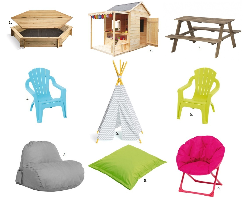 Sélection Mobilier De Jardin Pour Enfants - Cerise Sur Le ... concernant Table Jardin Plastique Ikea