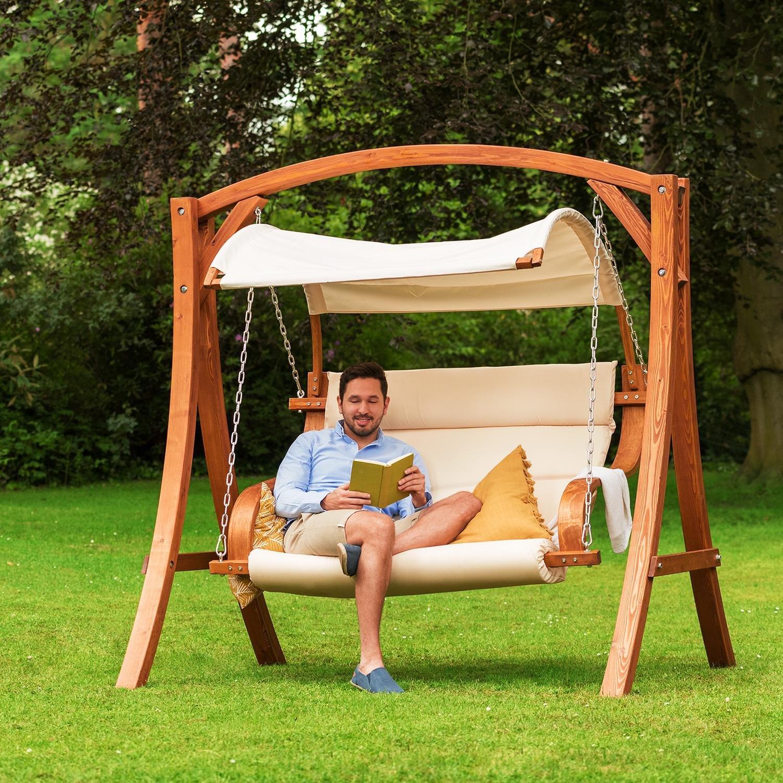 Sélection Pour Choisir Une Balancelle De Jardin En Bois ... encequiconcerne Balancelle De Jardin En Bois