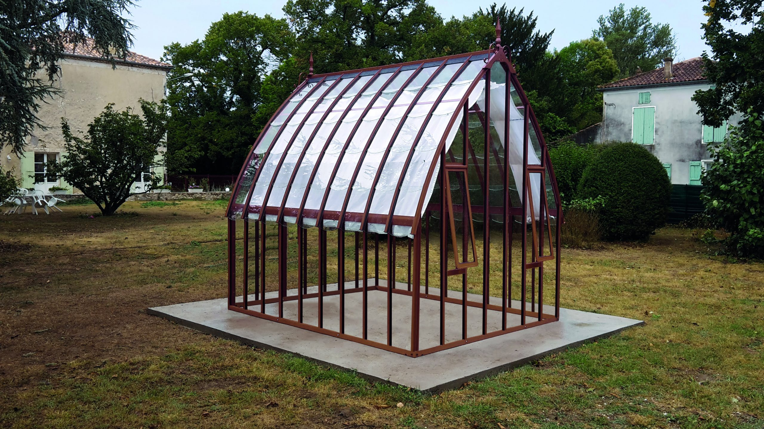 Serre À L'ancienne Style Fer Forgé - Aluminium - Verre ... avec Serre De Jardin Occasion
