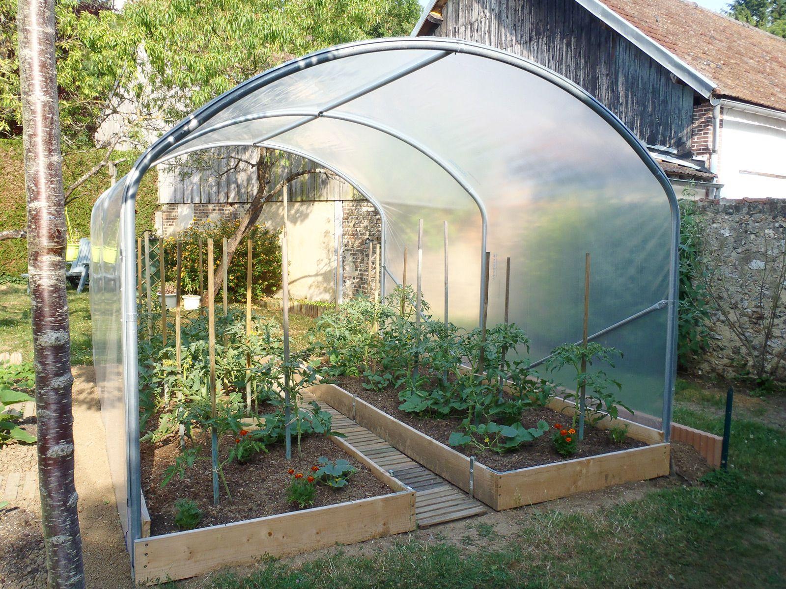 Serre À Tomates Larg. 3 M   Jardin Couvert, Idées Jardin Et ... destiné Faire Sa Serre De Jardin Soi Meme