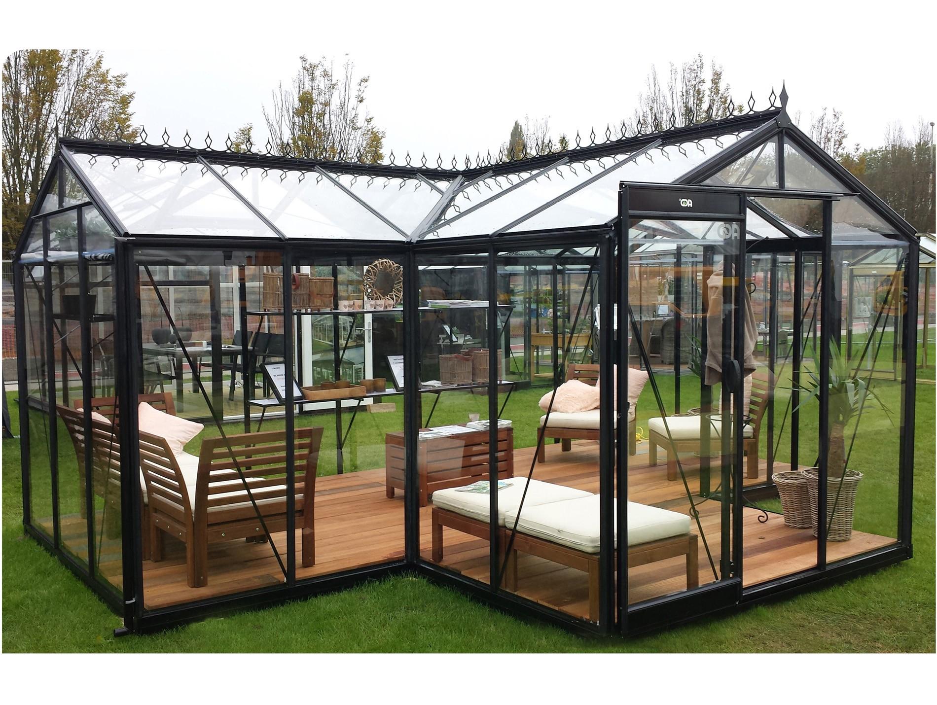 Serre Acd Prestige Orangerie Babette 15,40M² - Serre De ... intérieur Abri De Jardin Avec Serre