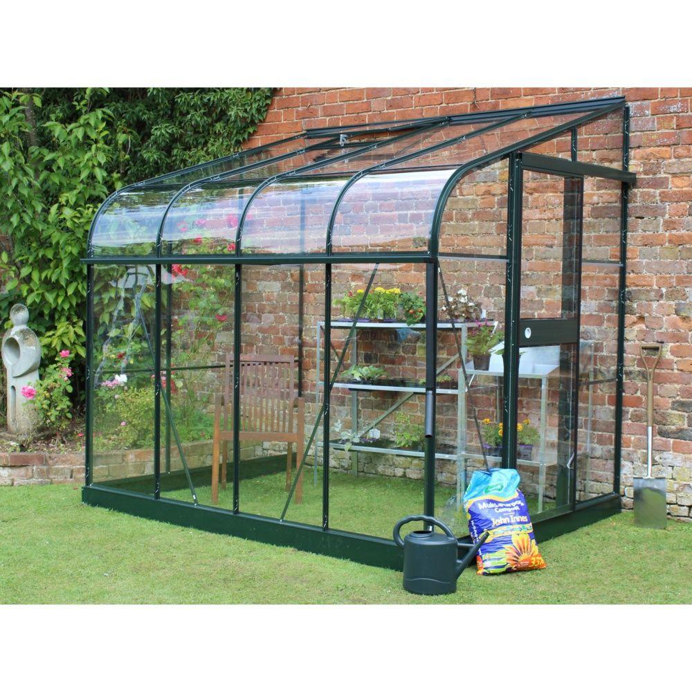 Serre Adossée En Verre Trempé Silverline Vert 5 M² - Halls pour Petite Serres De Jardin