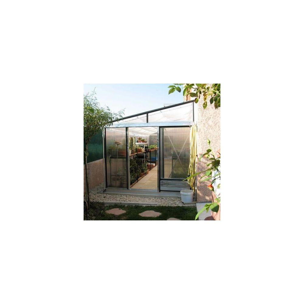 Serre Adossée Tropic-Murale -7,22M2 - 2.33X3.10M - Polycarbonate à Serre De Jardin Adossee Solde Promotions