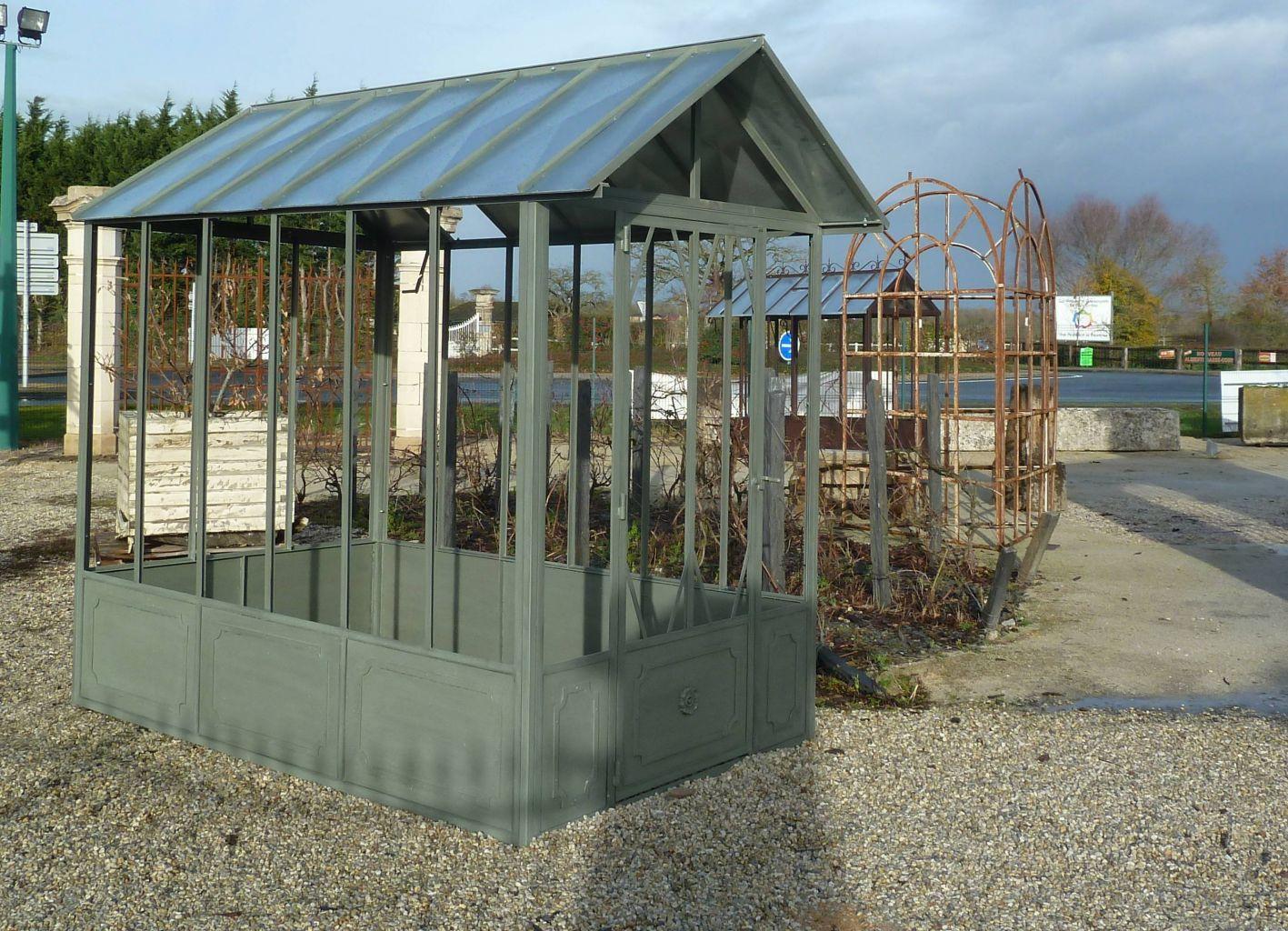 Serre De Jardin À L'ancienne - Fer Forgé | Bca Matériaux Anciens intérieur Serre De Jardin Fer Forgé