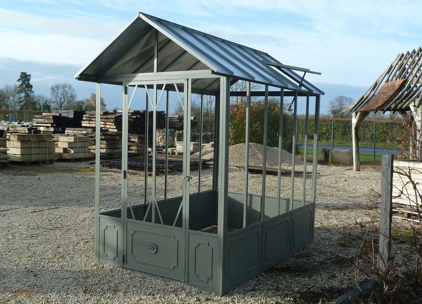 Serre De Jardin À L'ancienne - Fer Forgé | Bca Matériaux Anciens pour Serre De Jardin Fer Forgé