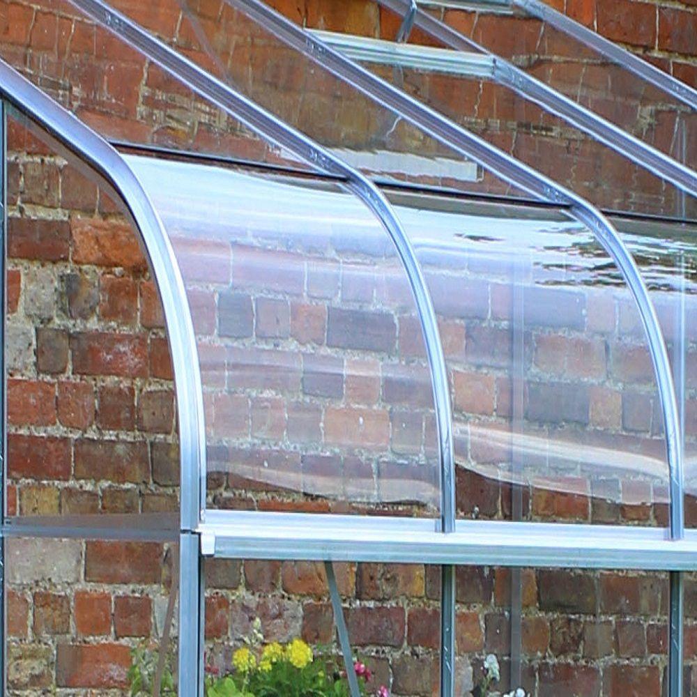 Serre De Jardin Adossée Silverline Verre Horticole 4.8 M² Hors Tout  Aluminium Halls intérieur Serre De Jardin Adossée