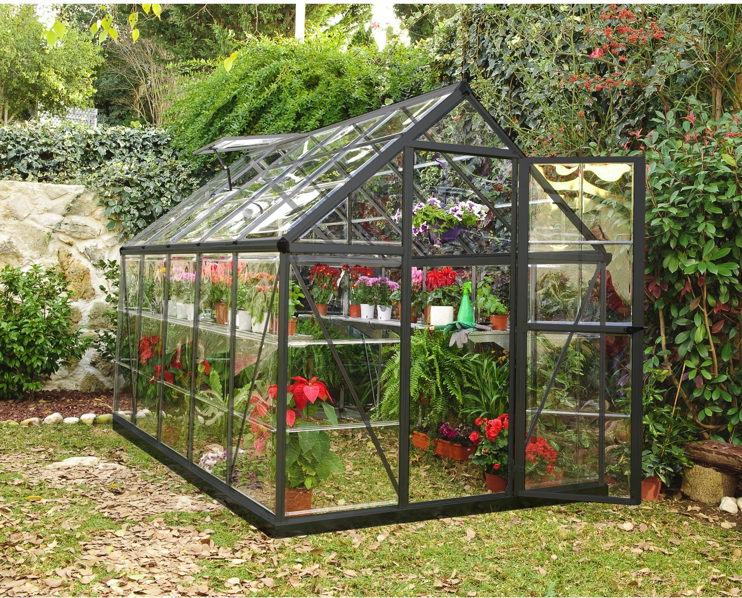 Serre De Jardin Alu Et Polycarbonate Palram Harmony, 5.6 M² ... avec Serre De Jardin Leroy Merlin