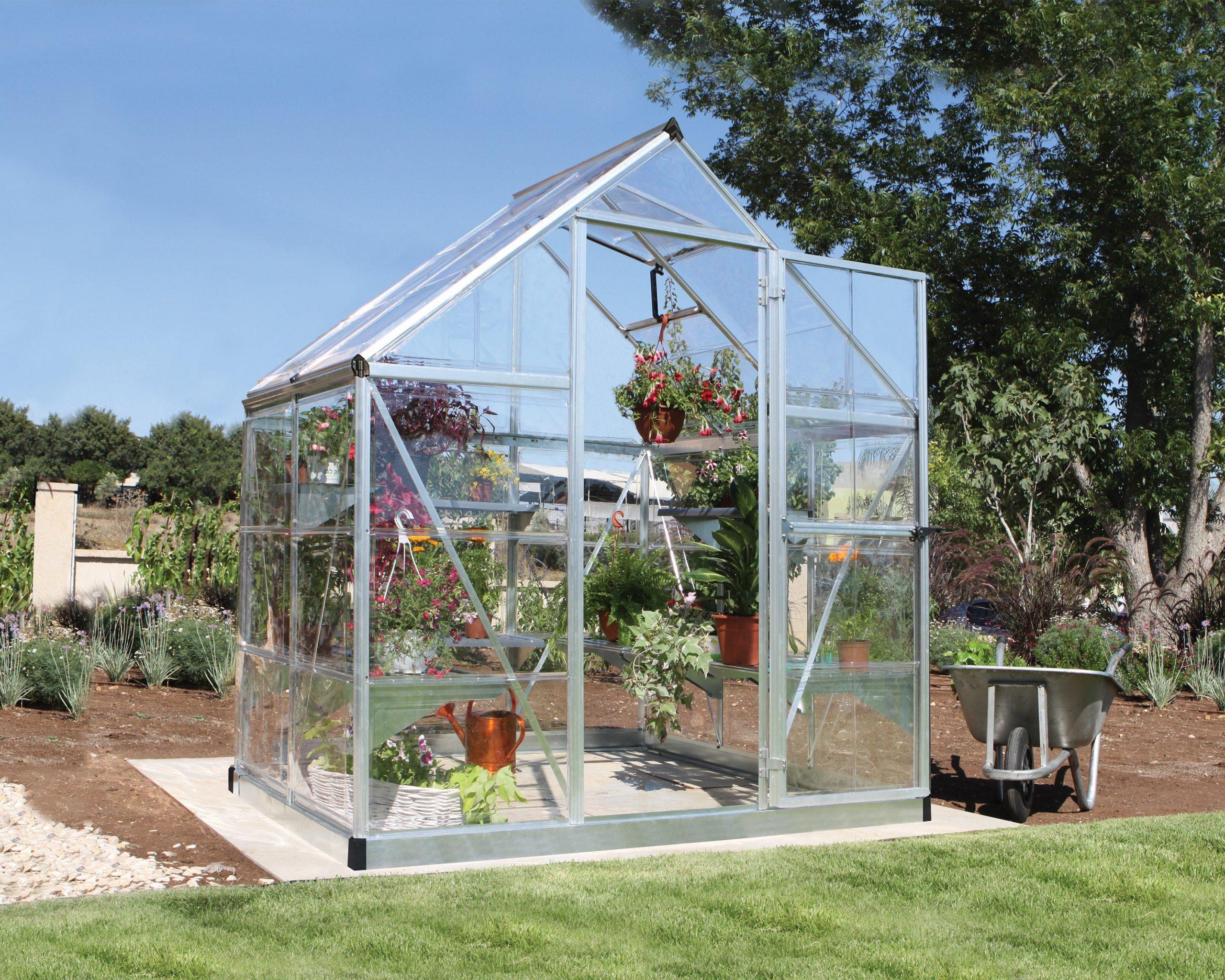 Serre De Jardin Argent Harmony 2.3 M², Aluminium Et Polycarbonate, Palram tout Serres De Jardin Leroy Merlin