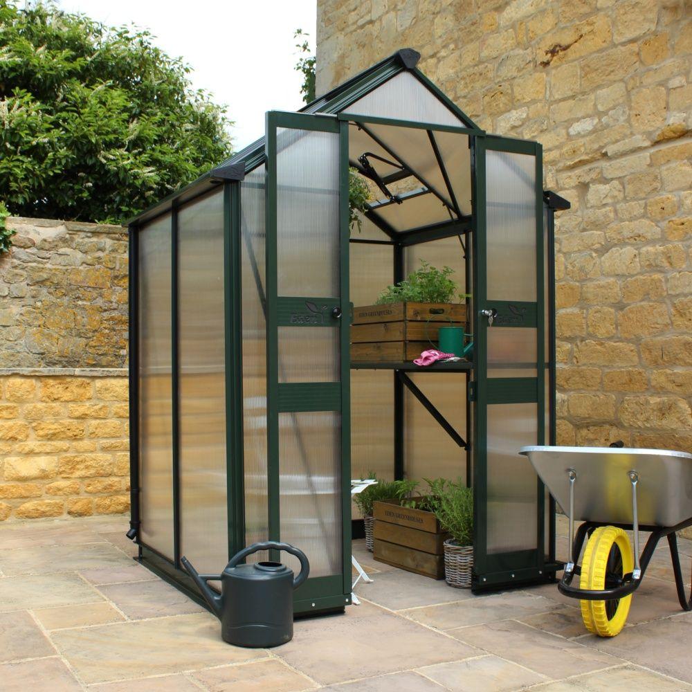 Serre De Jardin Birdlip Polycarbonate 3.80M² Sans Seuil De Porte + Embase -  Eden pour Serre De Jardin Polycarbonate Pas Cher