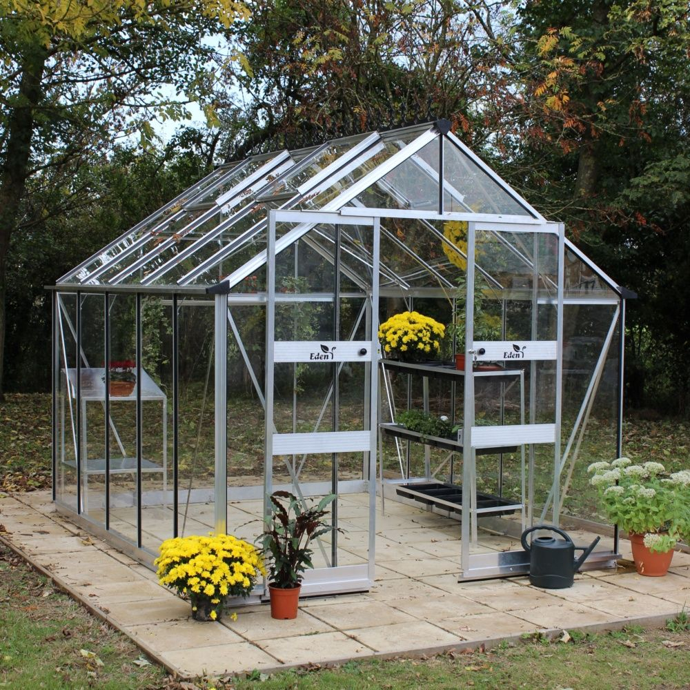 Serre De Jardin Blockey Verre Trempé 9,7 M² + Embase - Eden encequiconcerne Serres De Jardin En Verre