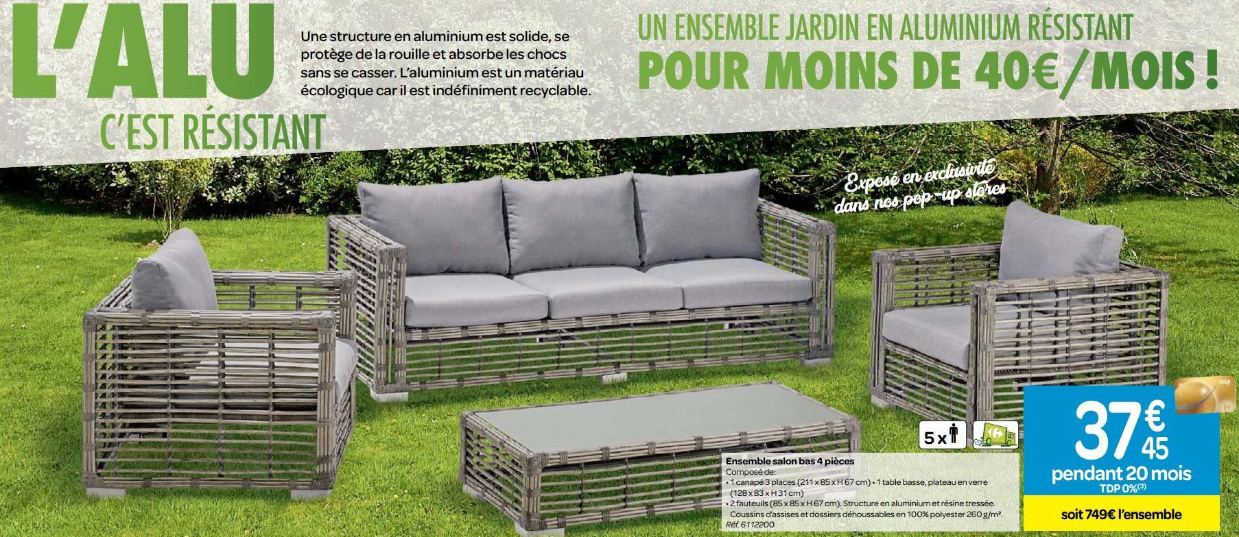 Serre De Jardin Carrefour - Canalcncarauca tout Salon De Jardin En Résine Tressée Carrefour