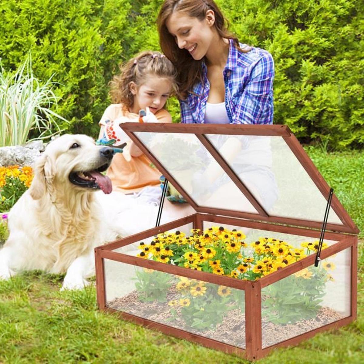 Serre De Jardin En Bois À Tomates Châssis Ou Bac À Fleurs ... tout Chassis De Jardin
