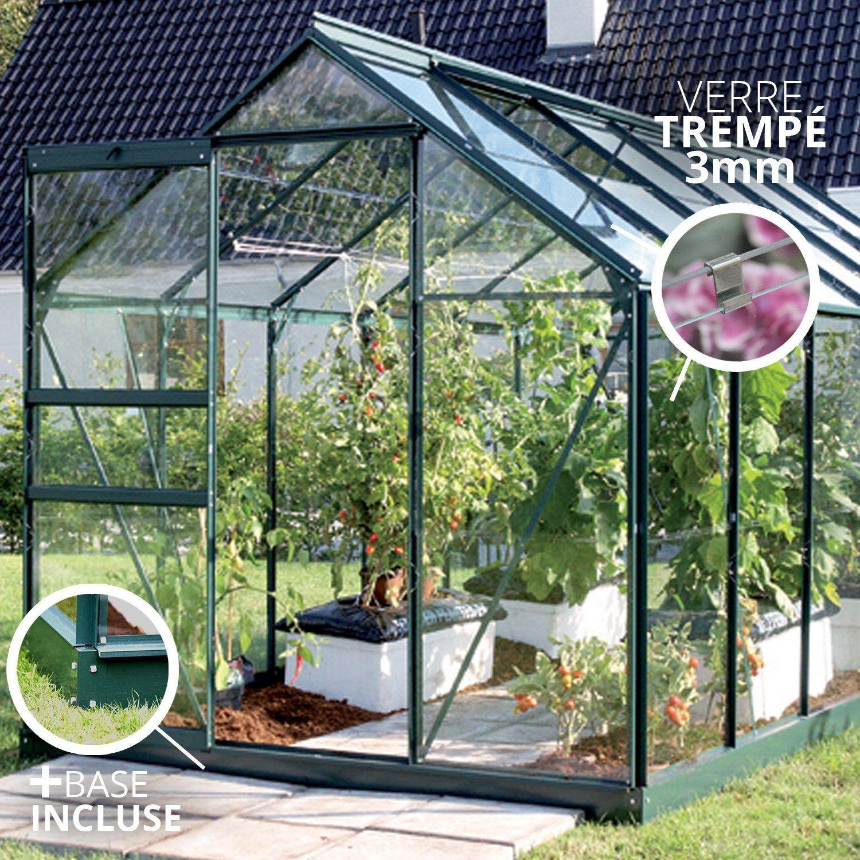 Serre De Jardin En Verre Trempé 788689, 7.5 M² Lams En 2020 ... dedans Promo Serre De Jardin En Verre