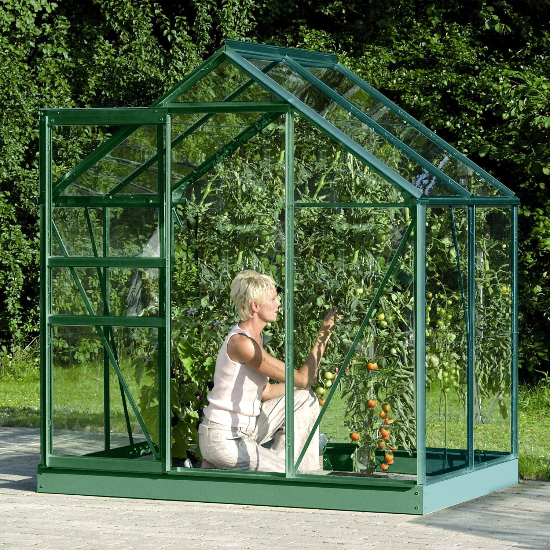 Serre De Jardin En Verre Trempé Allium Venus 2,50 M². Aluminium Laqué Vert  - 610.00€ Livraison Comprise encequiconcerne Serres De Jardin En Verre