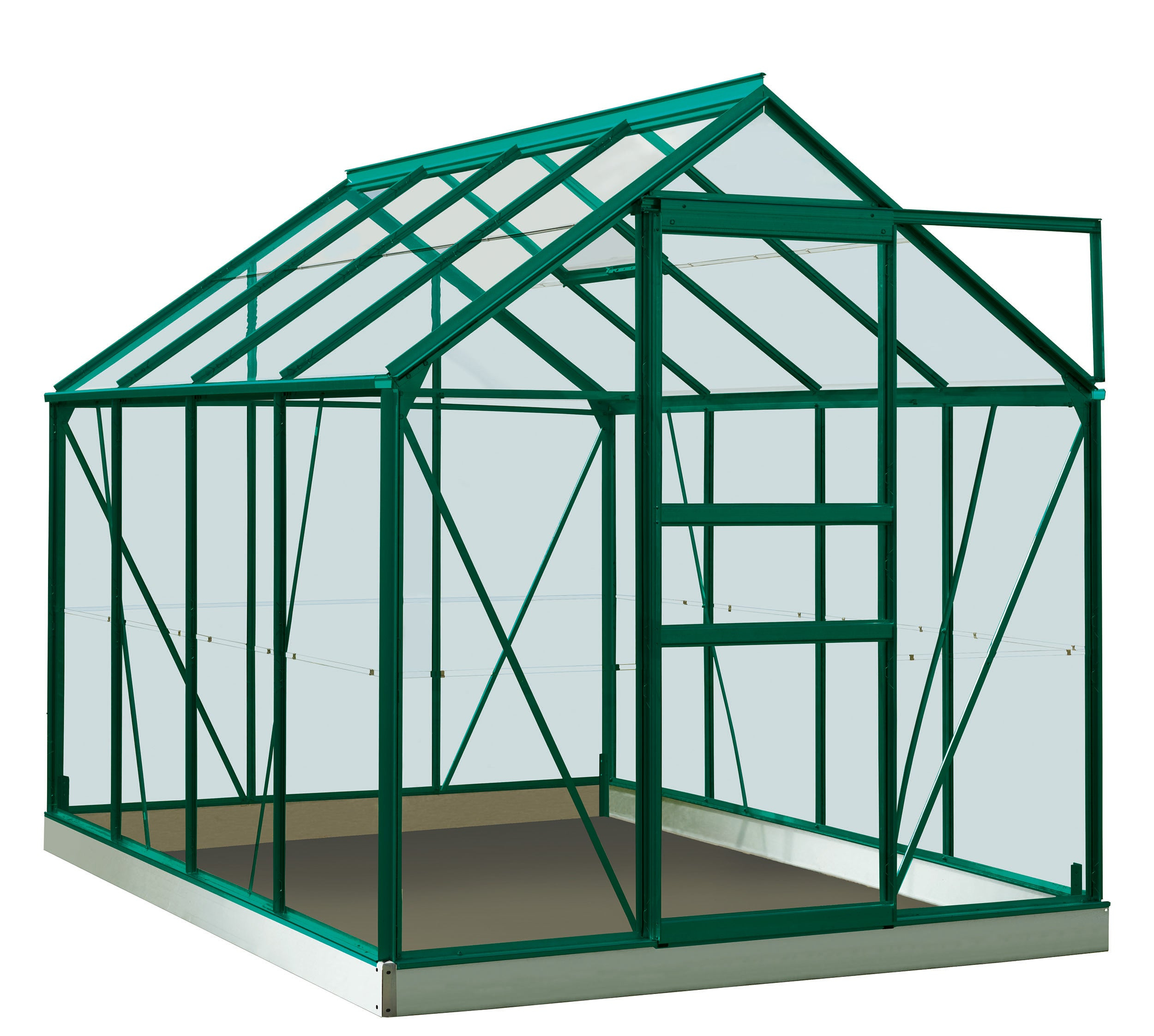 Serre De Jardin En Verre Trempé Rainbow Vert, 4.96 M² destiné Serres De Jardin Leroy Merlin