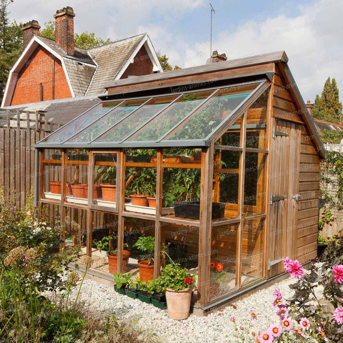 Serre De Jardin Et Abri En Bois Gabriel Ash - 5 Panneaux avec Prix D Un Abri De Jardin En Bois