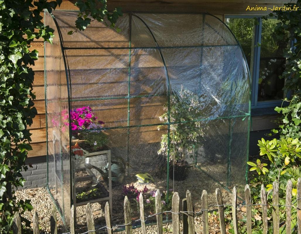 Serre De Jardin Et Balcon, Murale, Adossée, 2M², Protection ... avec Serre De Jardin Adossee Solde Promotions