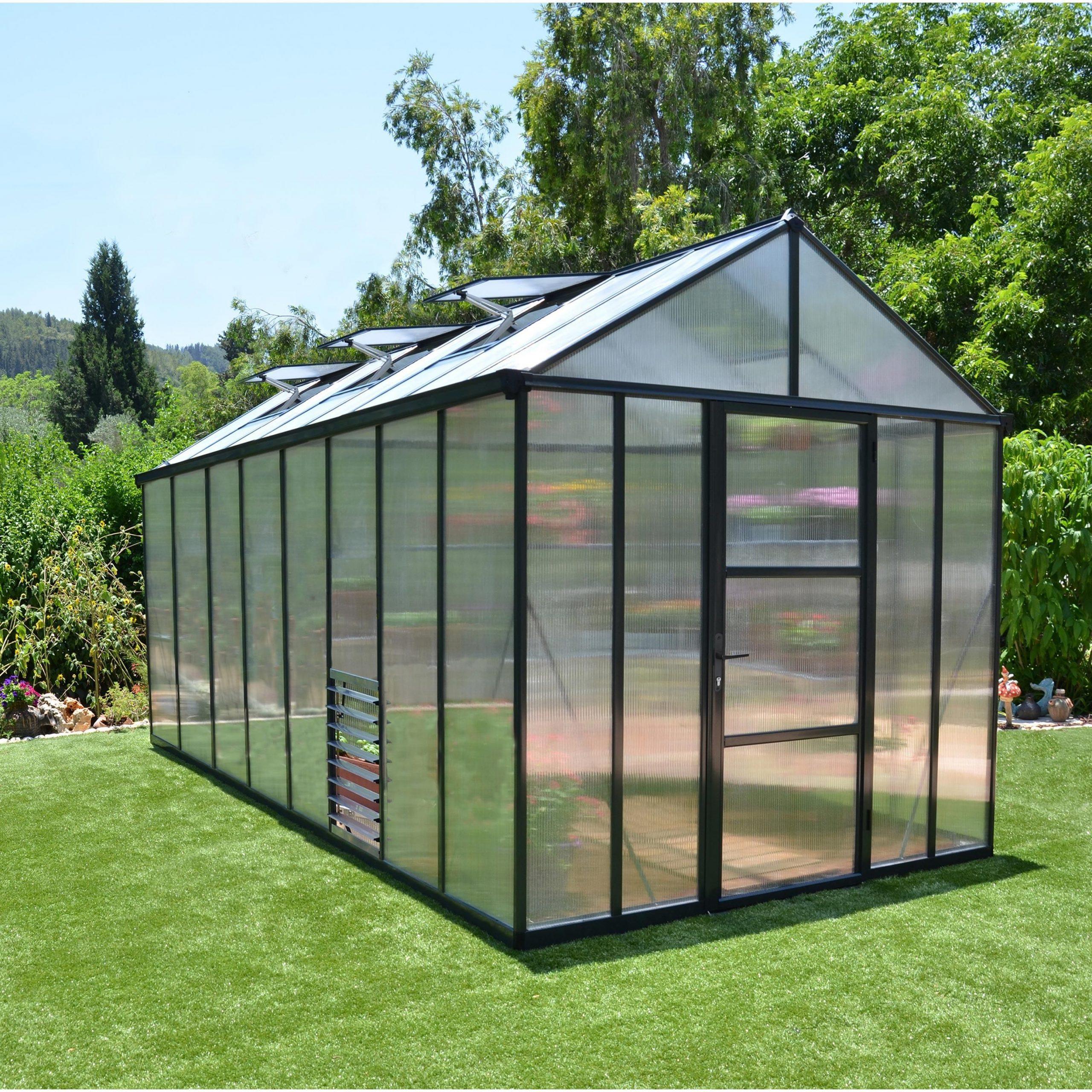 Serre De Jardin Glory 11.4 M², Aluminium Et Polycarbonate ... à Serre De Jardin Leroy Merlin