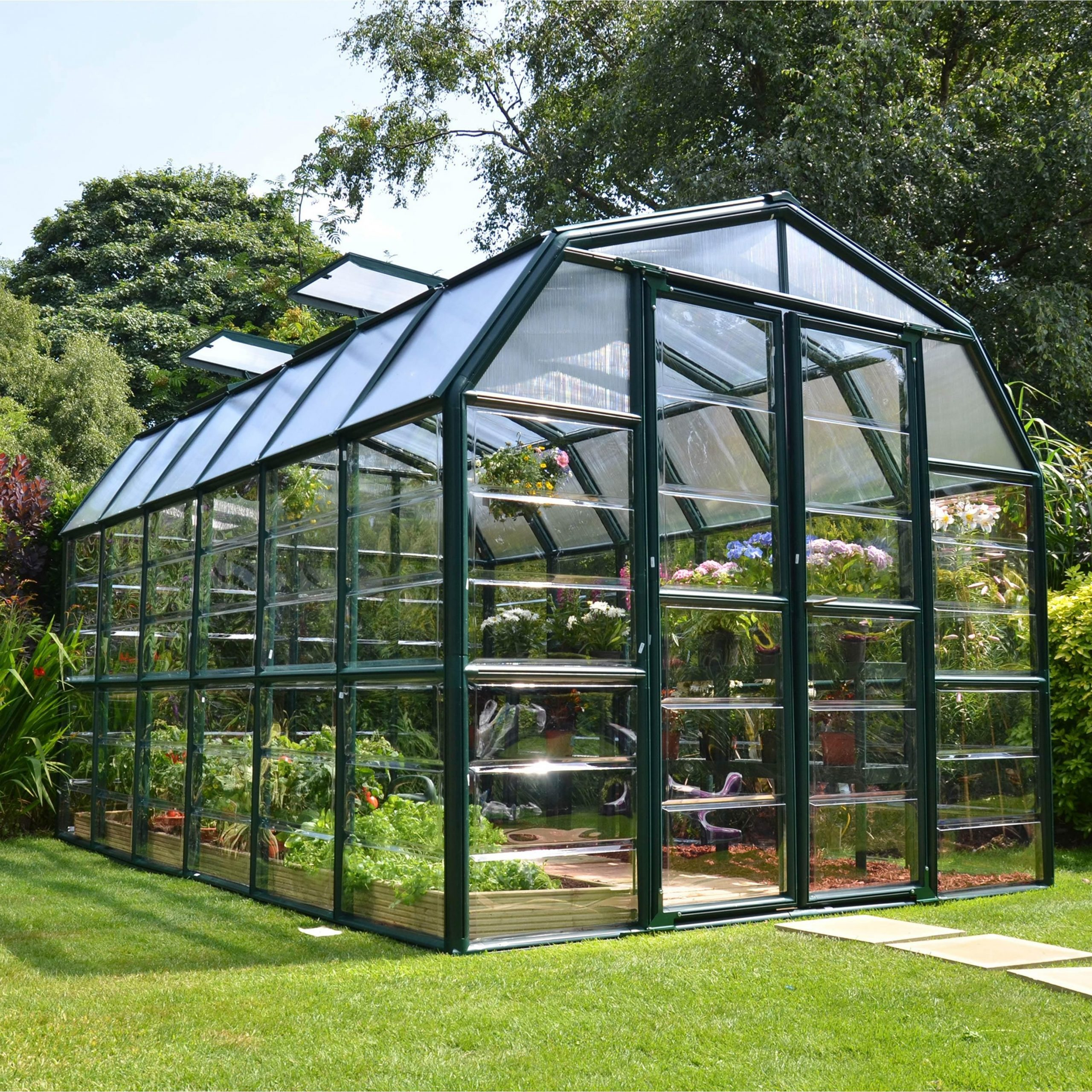Serre De Jardin Grand Gardener 10 M², Aluminium Et ... serapportantà Leroy Merlin Serre De Jardin