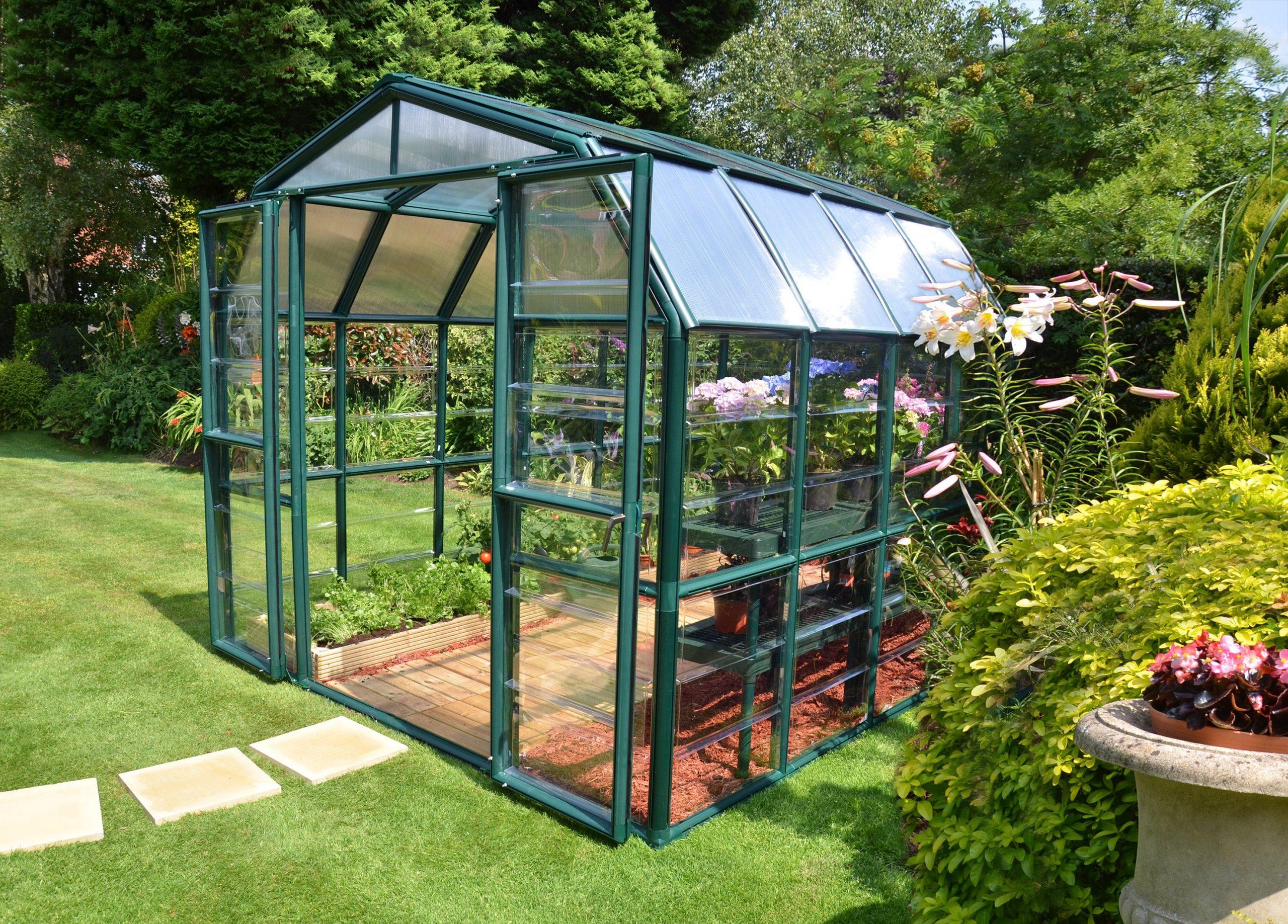 Serre De Jardin Grand Gardener 6.8 M², Aluminium Et Polycarbonate, Palram avec Leroy Merlin Serre De Jardin