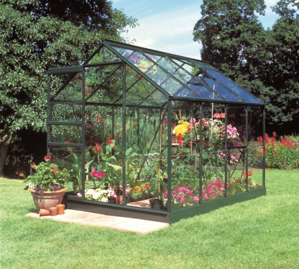 Serre De Jardin Halls Popular 5 M2 Verte + Verre Horticole 3 ... dedans Promo Serre De Jardin En Verre