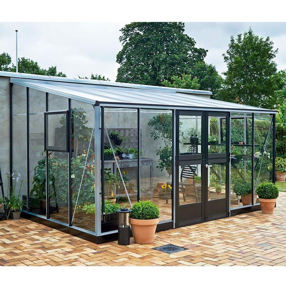 Serre De Jardin Juliana Veranda 12.9 M² + Verre Trempé ... serapportantà Promo Serre De Jardin En Verre