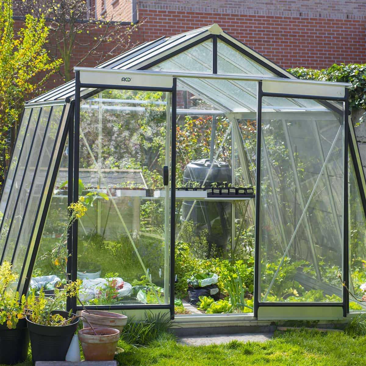 Serre De Jardin Prestige 9.12M2 Paroi Oblique S104H encequiconcerne Promo Serre De Jardin En Verre