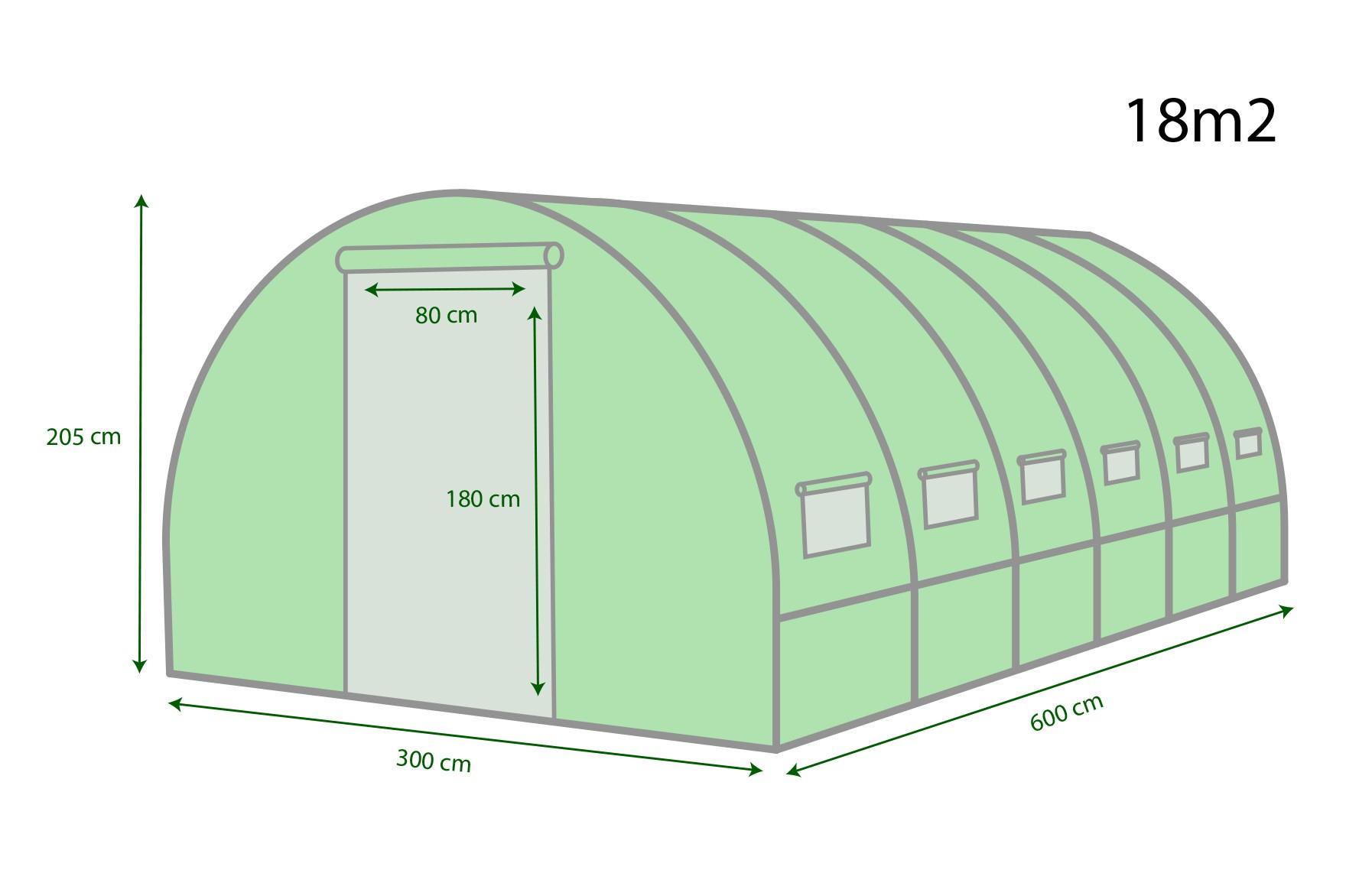 Serre De Jardin Tunnel 18M² - 6X3M - Eurospen® avec Serre De Jardin 18M2