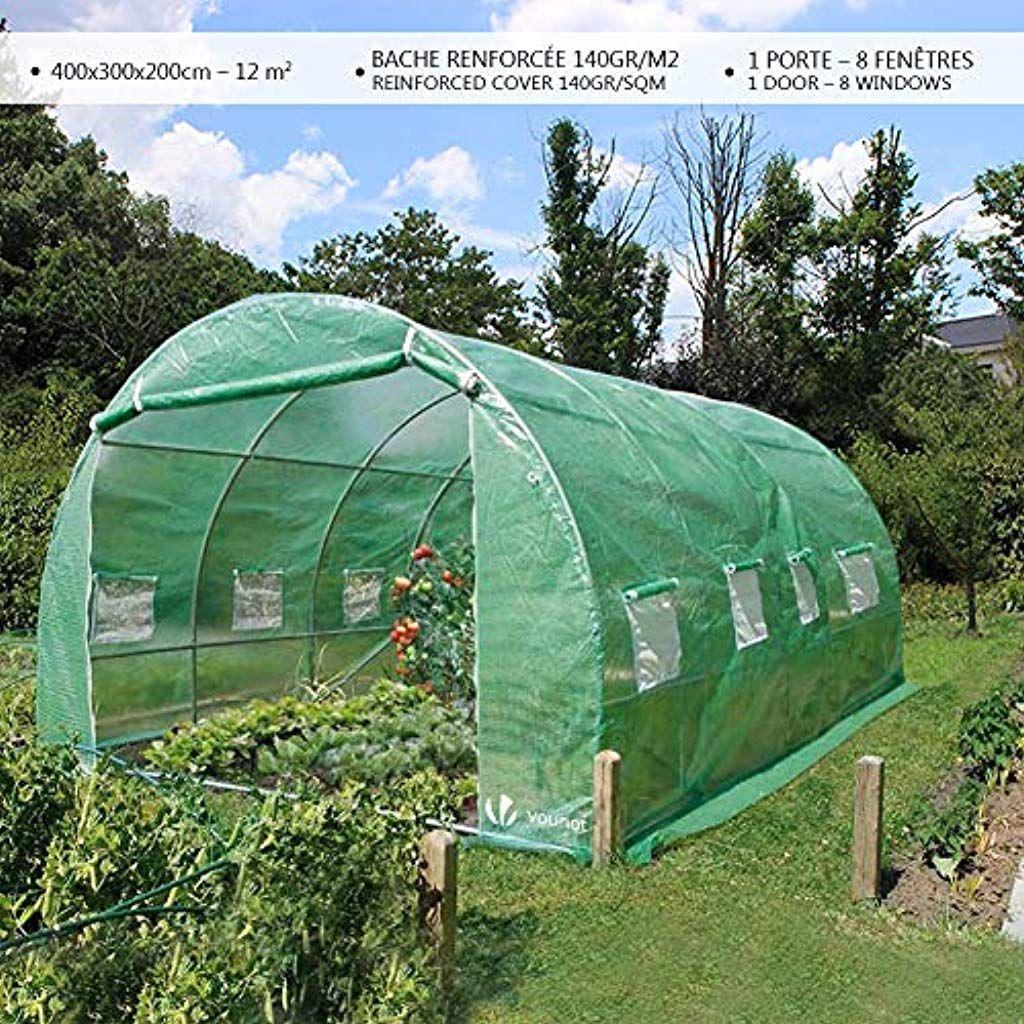 Serre De Jardin | Tunnel Serre De Jardin | Serre De Jardin ... intérieur Bache Verte Jardin