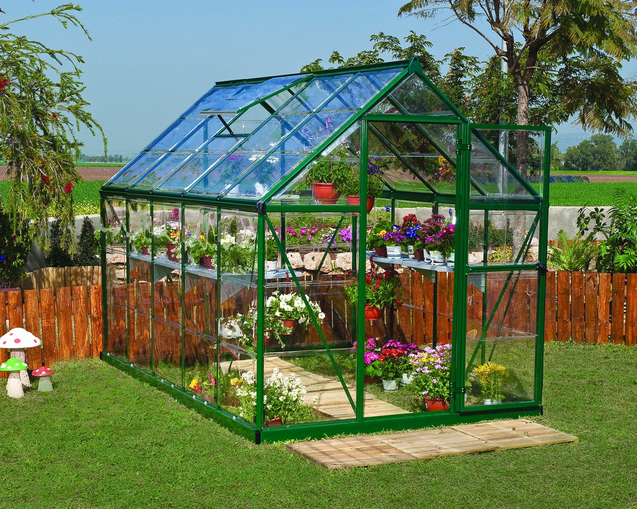 Serre De Jardin Verte Harmony 5.6 M², Aluminium Et Polycarbonate, Palram destiné Serre De Jardin Leroy Merlin