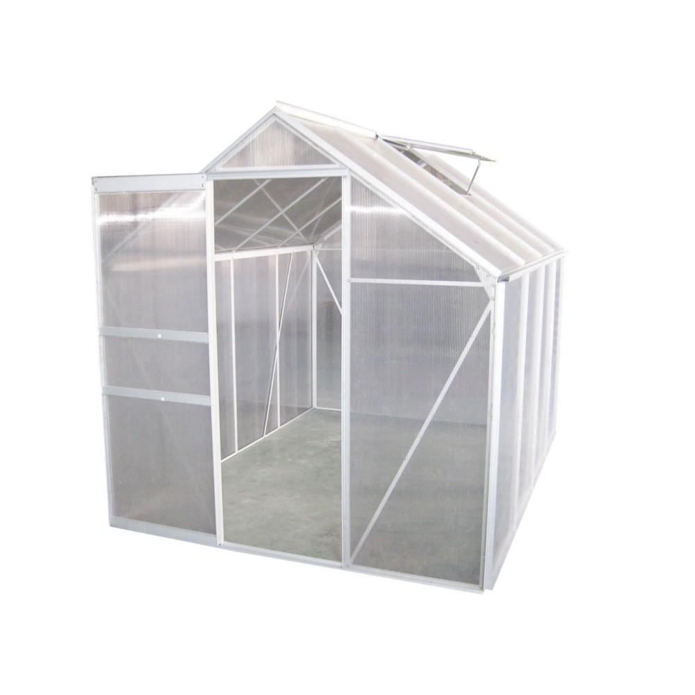 Serre En Aluminium 5 M² serapportantà Serre De Jardin Bricorama