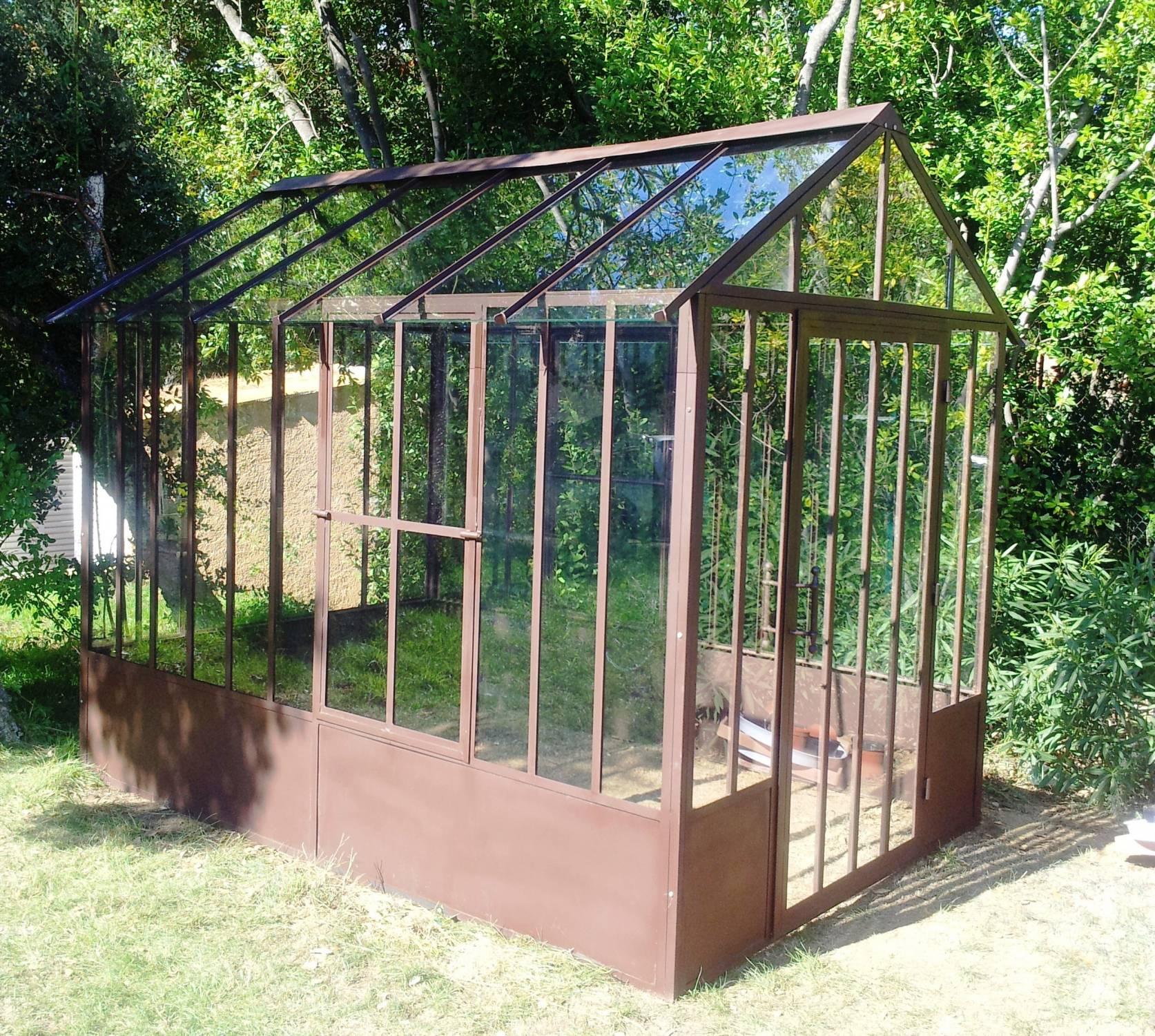Serre En Fer Forgé 3X2 Aix & Terra À Aix En Provence ... pour Serre De Jardin Fer Forgé