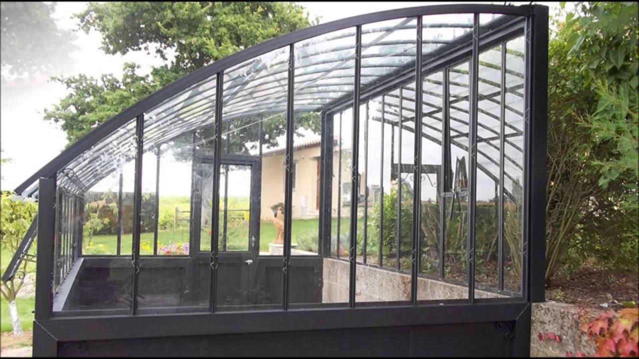 Serre En Verre À L'ancienne Modèle Versailles pour Serre De Jardin Fer Forgé