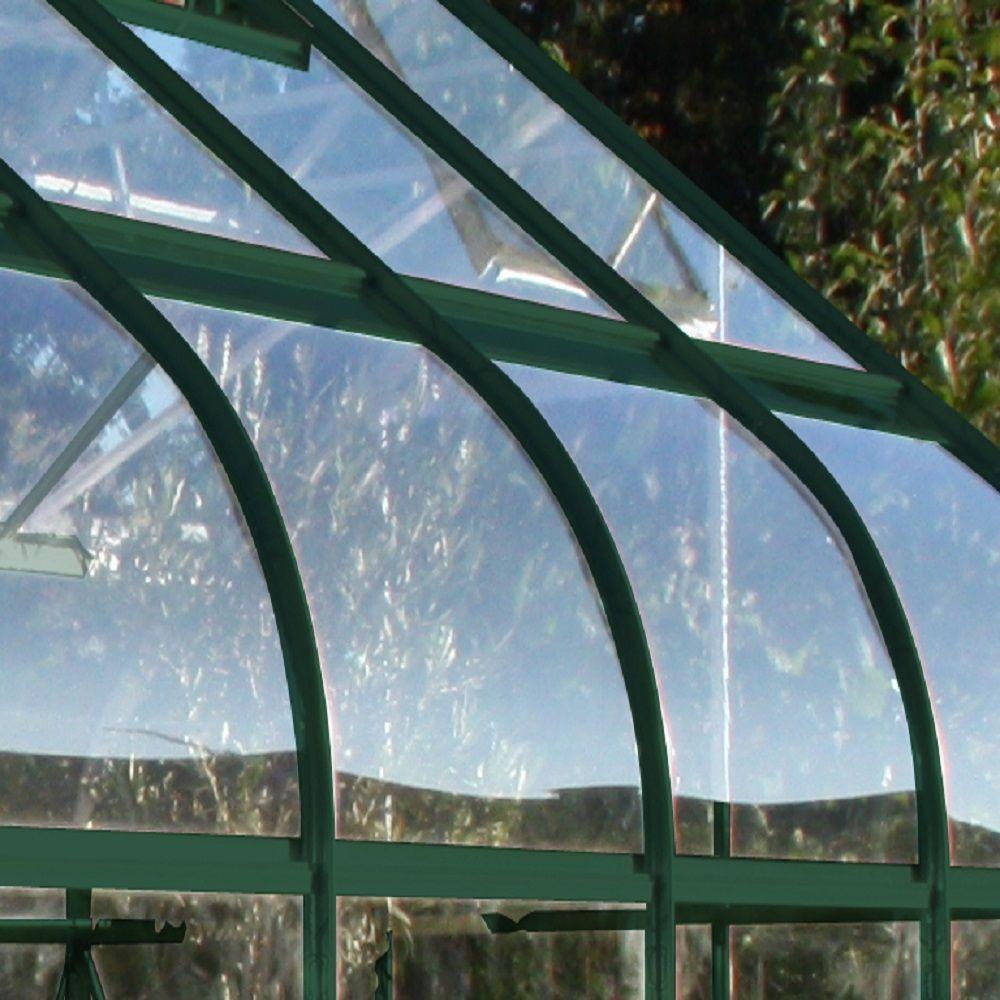 Serre En Verre Trempé Supreme Vert 8.1 M² + Embase - Halls pour Serre De Jardin En Verre Trempé