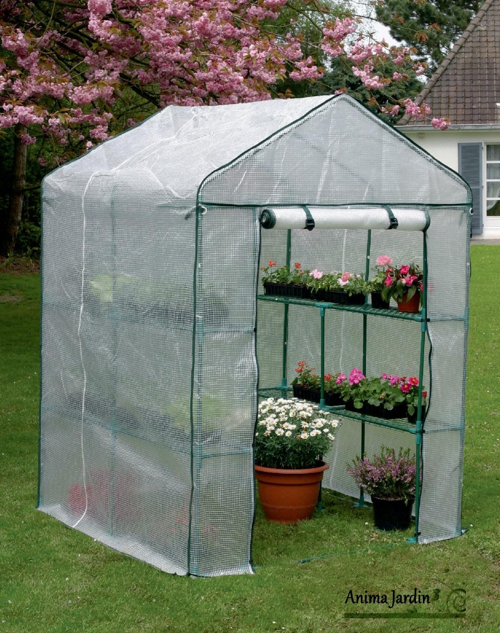 Serre Jardin 2 M², Greenseason 4 Nortène, Avec Étagères, Serre Pas Cher à Petite Serre De Jardin Pas Cher