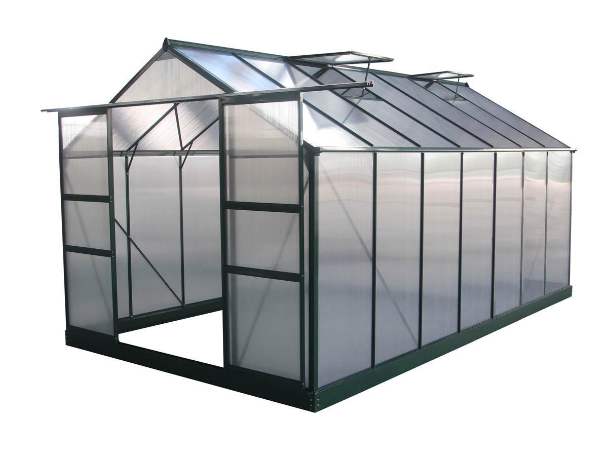 "Serre Jardin Polycarbonate ""dahlia"" Vert Sapin 13,29 M² ... encequiconcerne Promo Serre De Jardin En Verre"