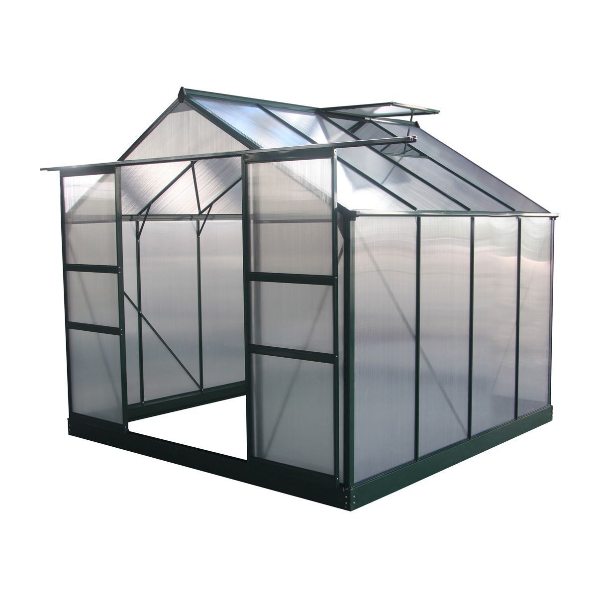 """Serre Jardin Polycarbonate """"dahlia"""" Vert Sapin 6,15 M² ... concernant Serre De Jardin Auchan"""