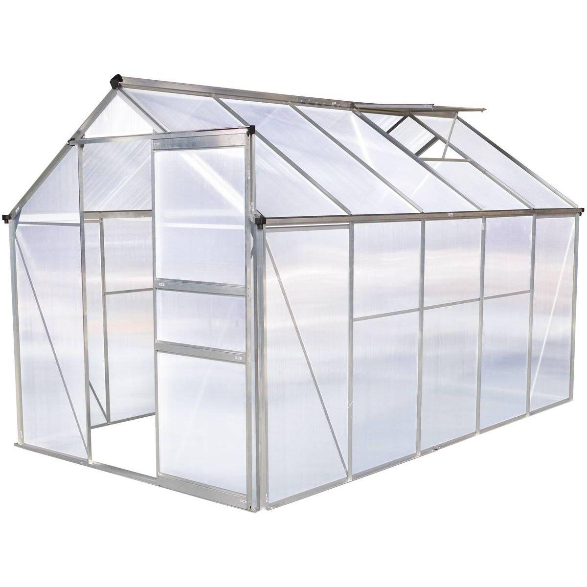 """Serre Jardin Polycarbonate """"hortensia""""6M² - Taille : Taille ... encequiconcerne Serre De Jardin Adossee Solde Promotions"""