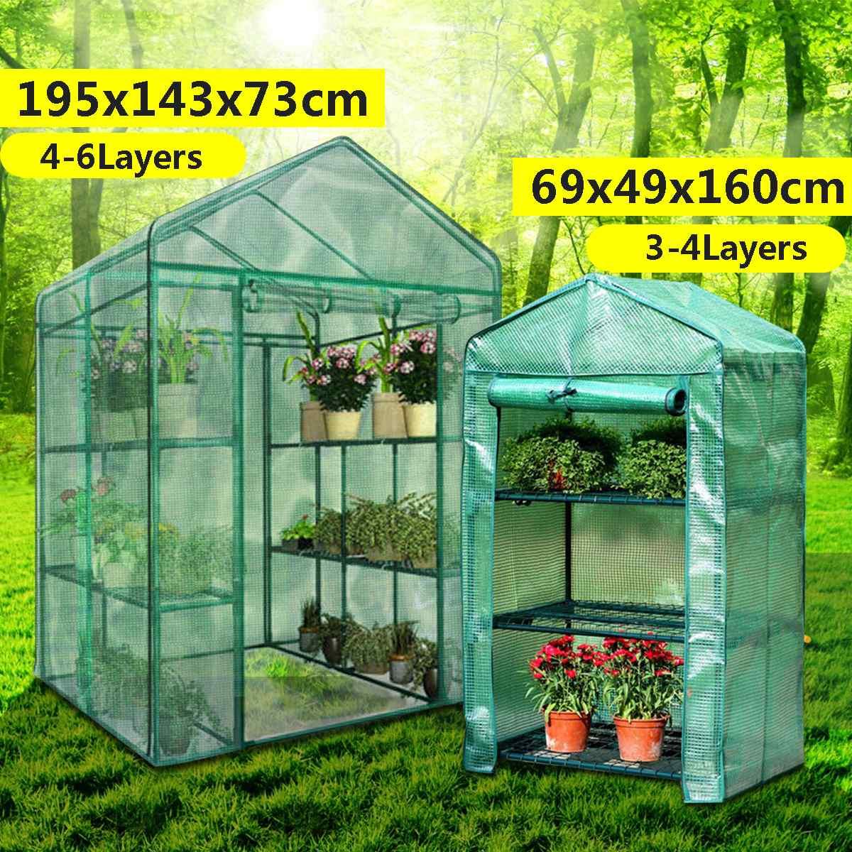 Serre Maison Fleur Plante Garder Au Chaud Étagère Toit Abri ... serapportantà Maison De Jardin En Plastique