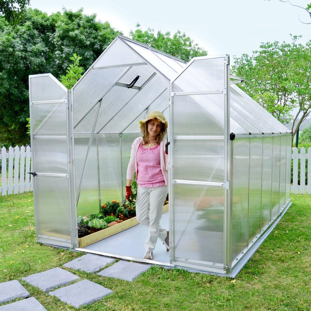 Serre Polycarbonate Essence 8,90 M² + Embase - Palram destiné Fabriquer Serre De Jardin Polycarbonate