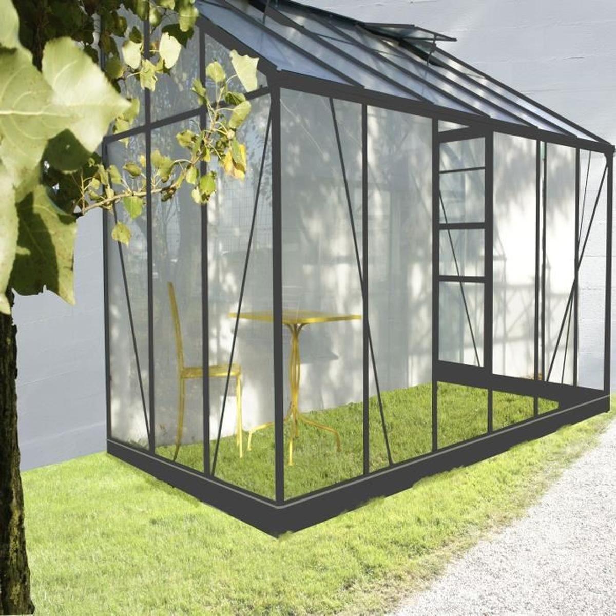 Serre Serre Solarium Adossée De 7,22M2 De Surface En Verre ... intérieur Serre De Jardin Adossee Solde Promotions