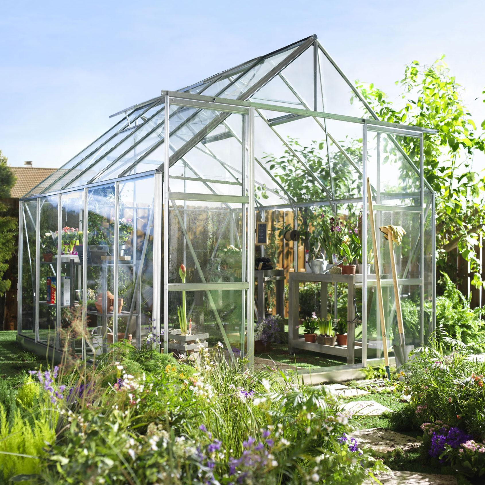 Serre Verre Promo - Veranda Et Abri Jardin intérieur Promo Serre De Jardin En Verre