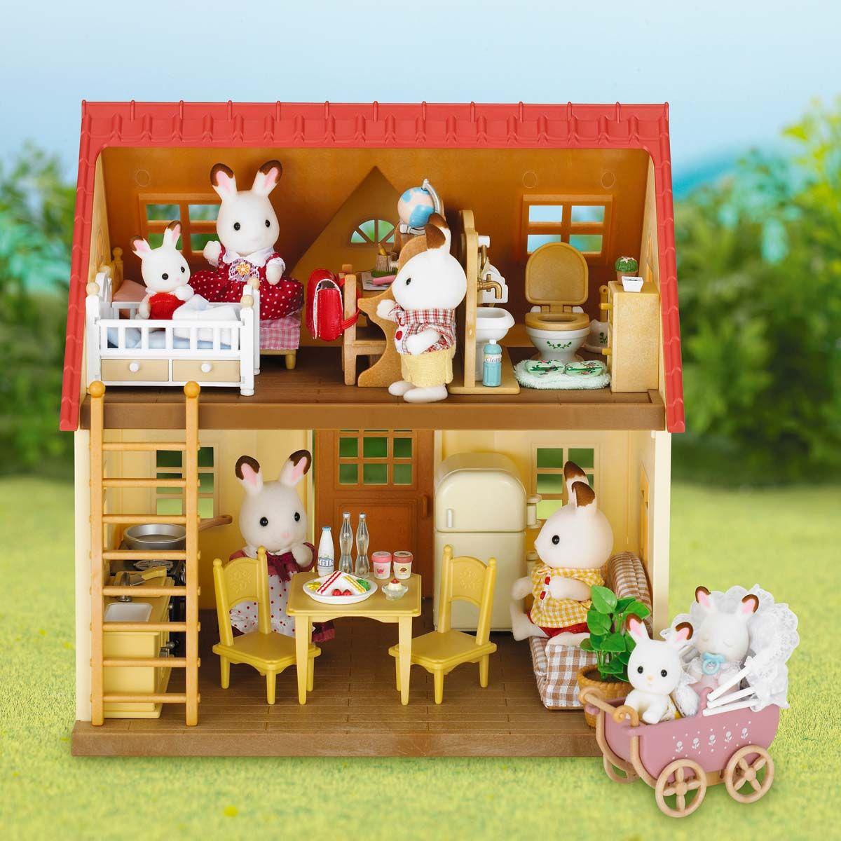 Set Cottage Avec Jardin Sylvanian Pour Enfant De 3 Ans À 8 ... tout Maison Jardin Jouet