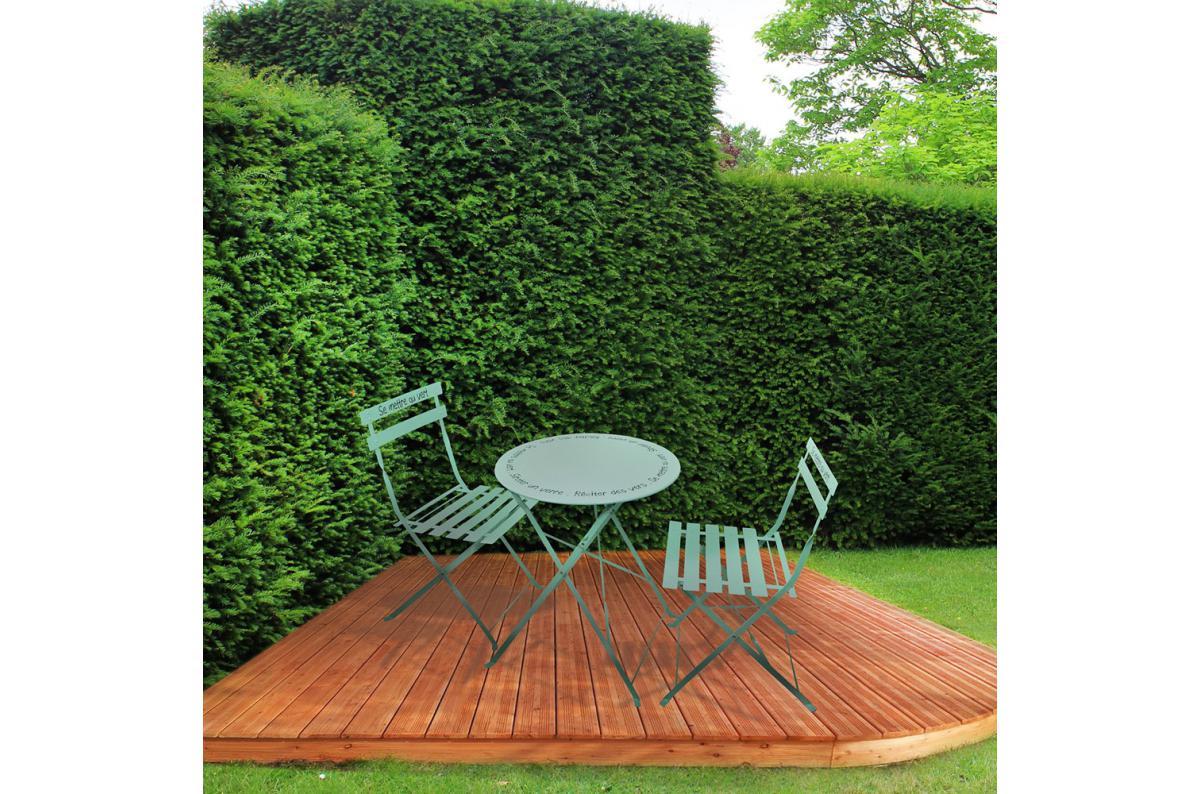 Set De Table Et Chaises De Jardin Avec Inscriptions En Acier Vert D'eau  Gardi Plus D's intérieur Table De Jardin Avec Chaise Pas Cher