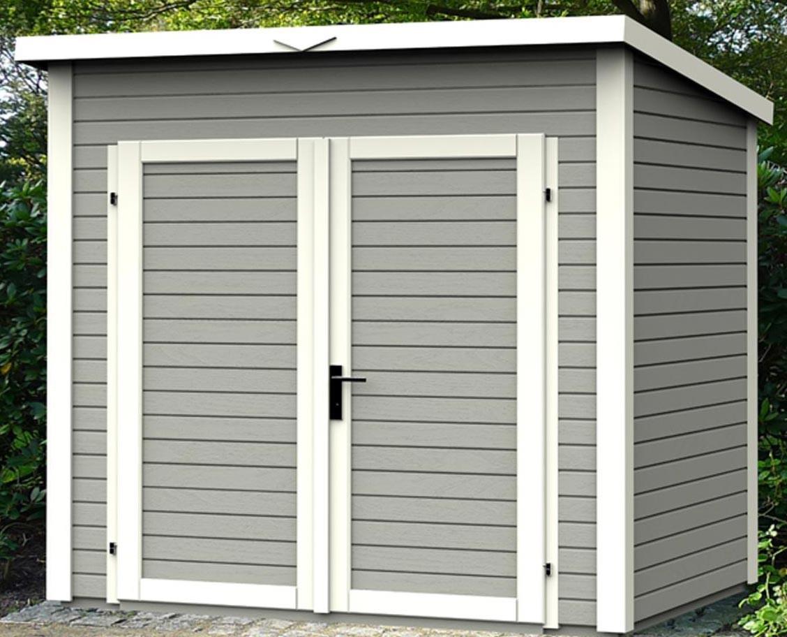 Shed 4.31 Solid Wood Square Metres - 19Mm Skur 4 Gray ... pour Trimetals Abri Jardin