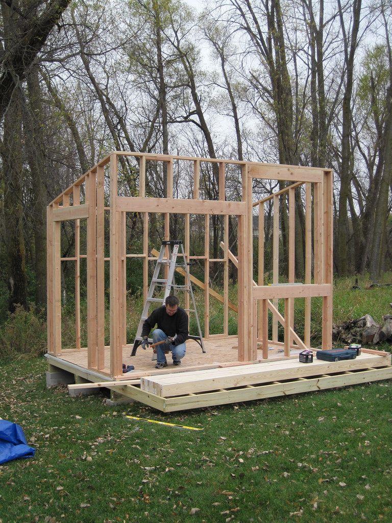 Shed Day Two Four Walls | Plan Cabane En Bois, Cabane Jardin ... à Construction Abri De Jardin En Bois